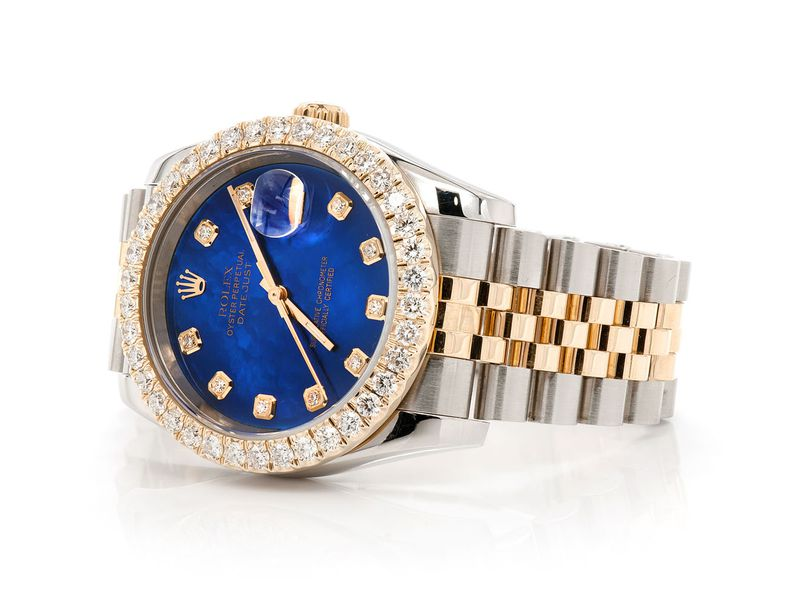 Pre-owned  Datejust 36MM  18K/SS  2.68ctw