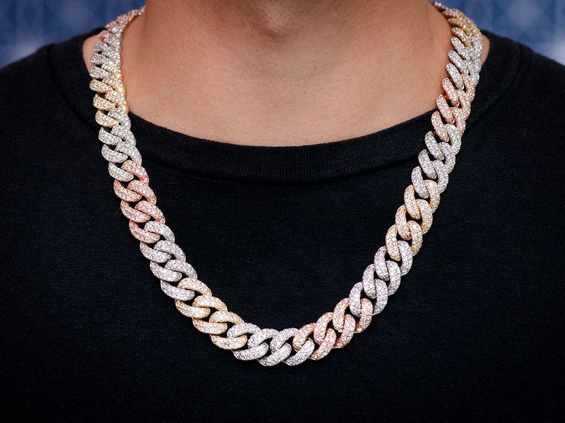 16mm Diamond Miami Cuban Necklace 14K   33.76ctw