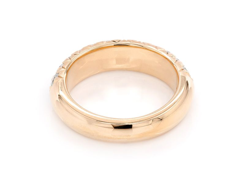 Two Row Ring 18K   1.55ctw