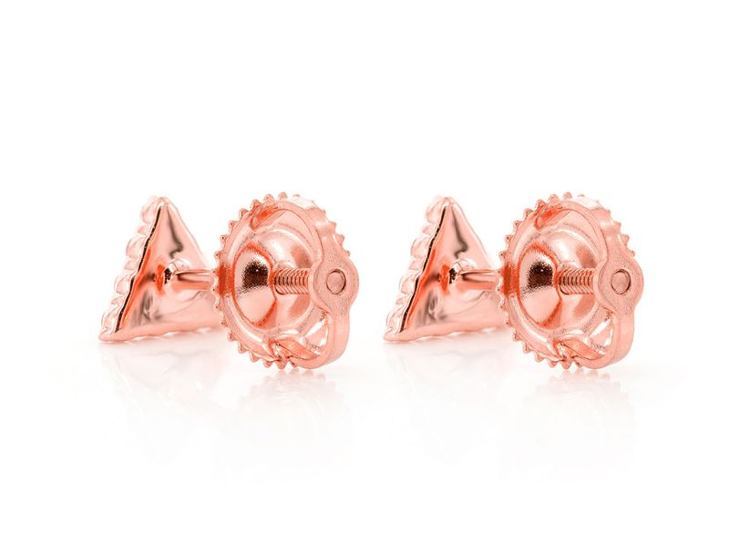 Triangle Stacked Stud Earrings 14K   0.15ctw