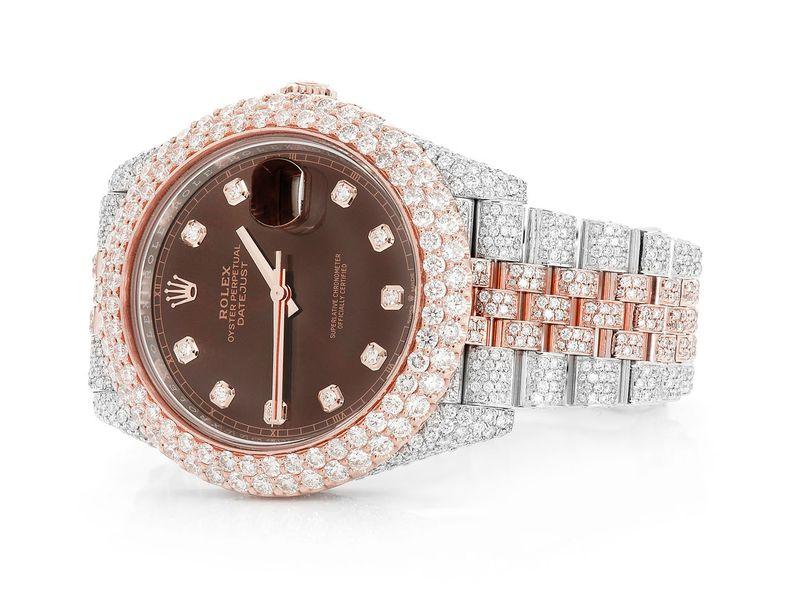 Rolex Date 16.33ctw 18K/SS