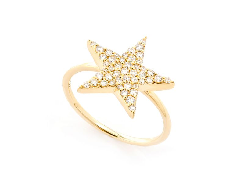 5 Point Star Promise Collection Ring 14K   0.35ctw