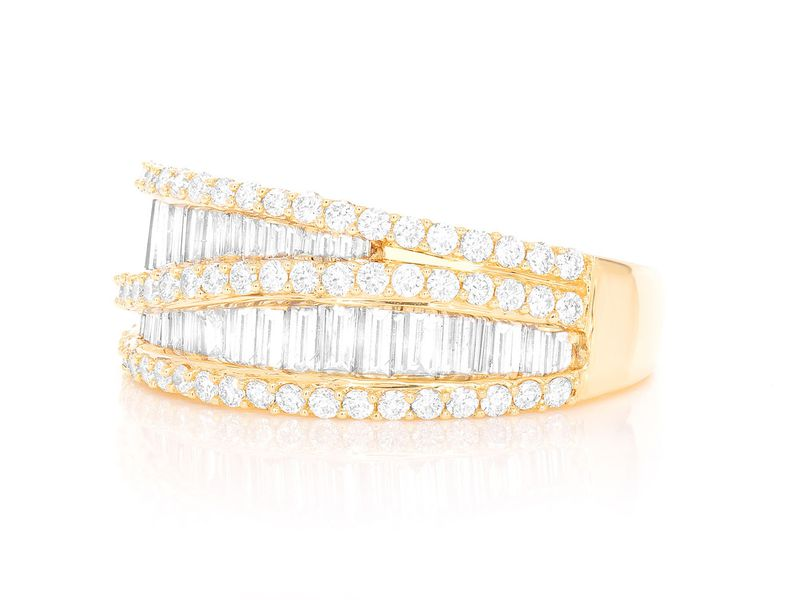 Split Baguette Ring 14K   1.62ctw