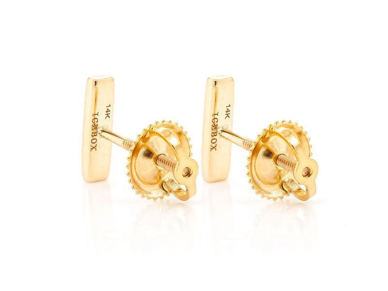 Mini Bar 5 Diamond Earrings 14K   0.10ctw