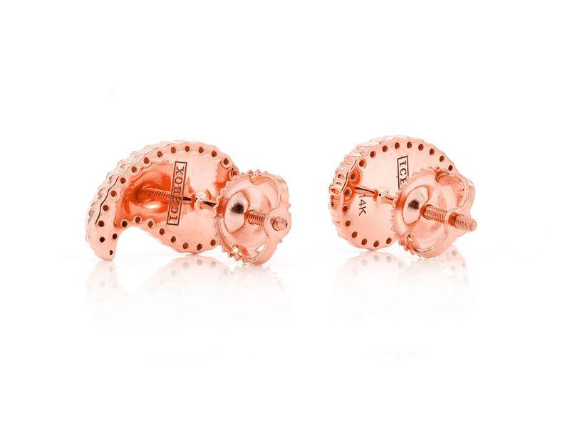 Paisley Basket Stud Earrings 14K   0.37ctw