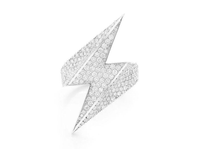 Lightning Bolt Ring 14K   2.34ctw