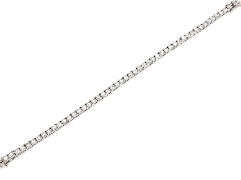 Tennis Bracelet 14K   11.38ctw