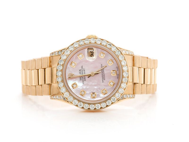 Pre-owned Rolex Presidential 31MM 18K  2.25ctw