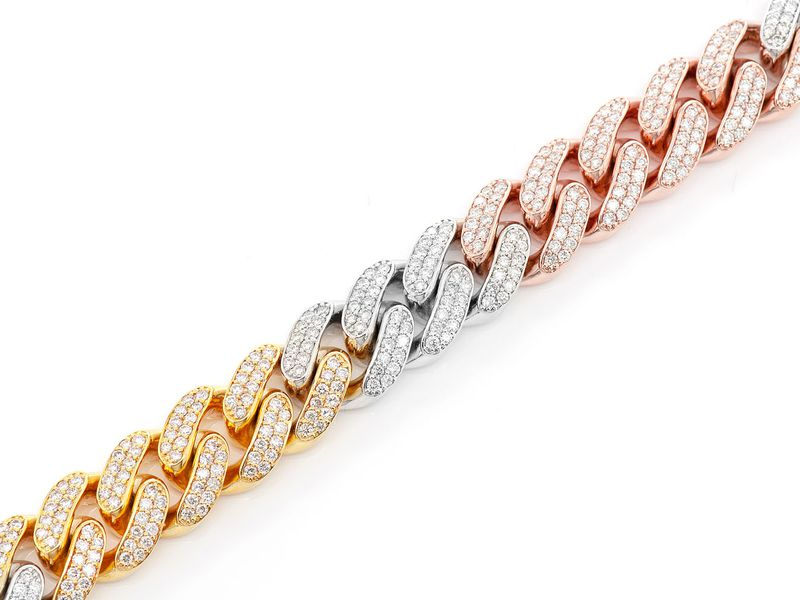 12mm Cuban Bracelet 14K   7.20ctw
