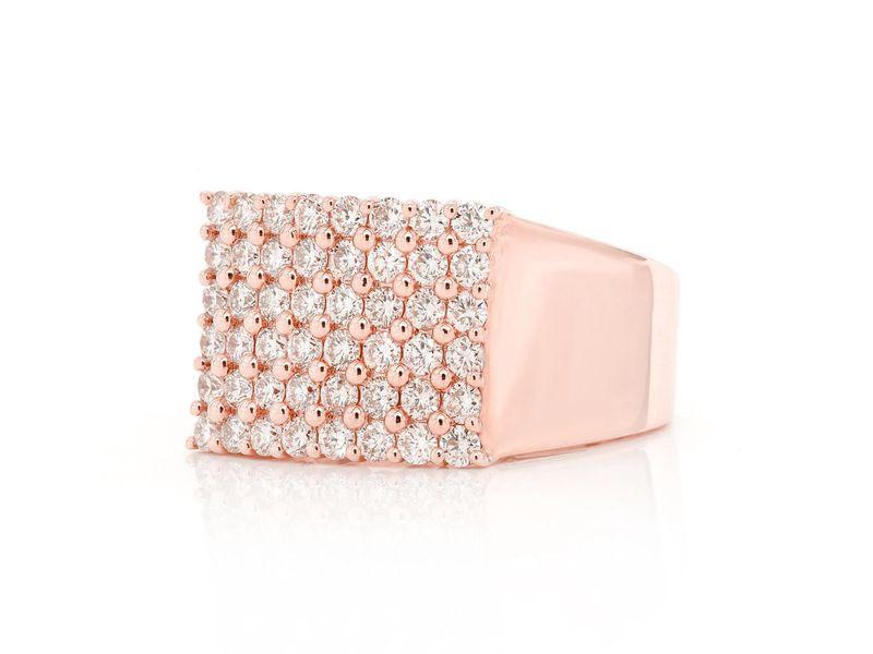 Rectango Diamond Top Ring 14K   1.68ctw