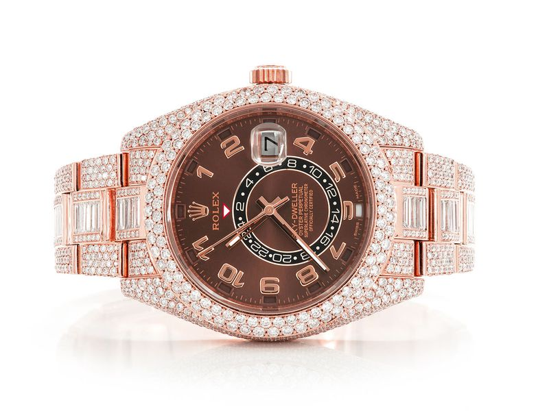 Icebox Sky-Dweller 18K  22.88ctw