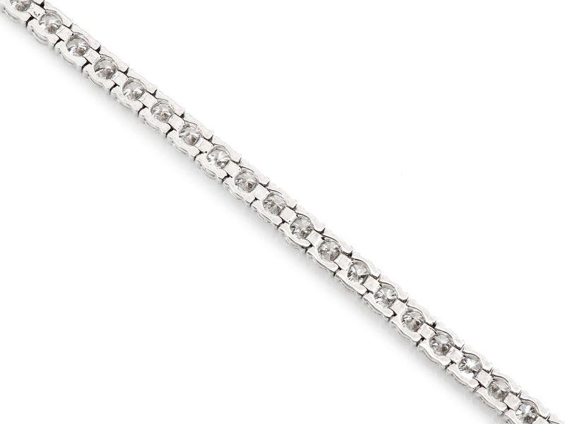 Tennis Bracelet 14K   6.29ctw