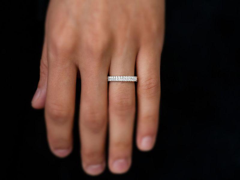 2 Row Band Ring 14K   0.70ctw