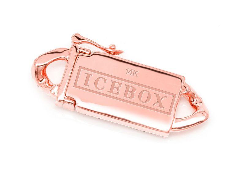 Icebox 8MM Diamond Cuban Clasp 14K 0.75ctw