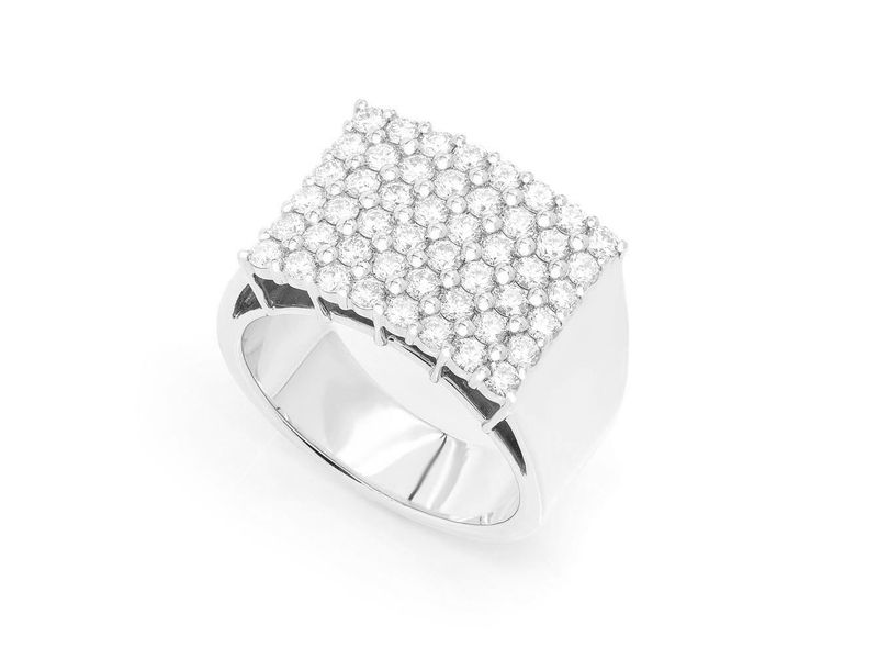 Rectango Diamond Top Ring 14K   1.68ctw
