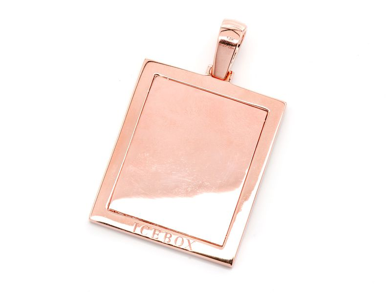 Rectangle Picture Memory Pendant 14K   2.85ctw