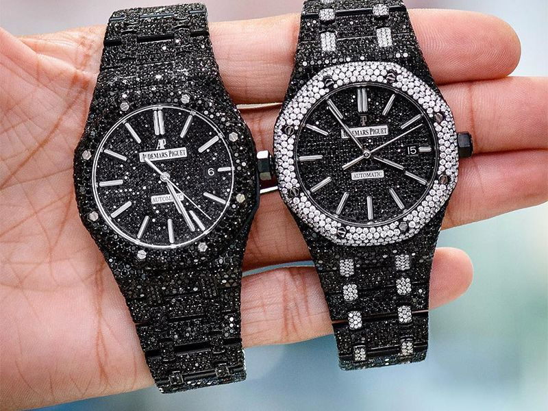 Audemars Piguet Black Diamonds Stainless  ICED OUT