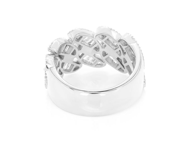 Cuban Baguette Ring 14K   1.30ctw