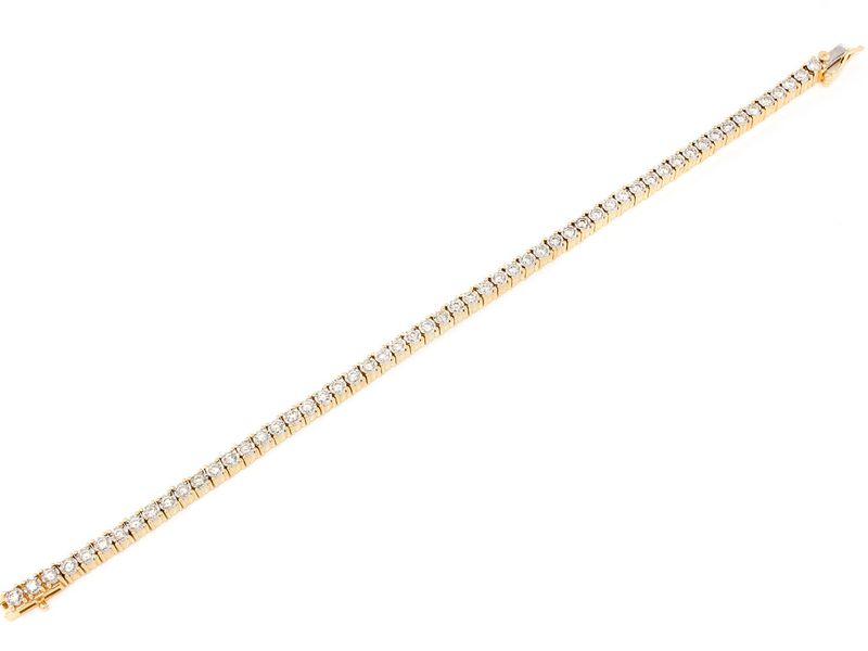 4pt Miracle Bracelet 14K   2.05ctw
