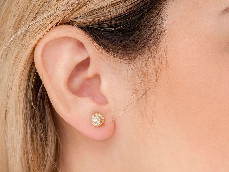 Bullet Point Earrings 14K   0.70ctw