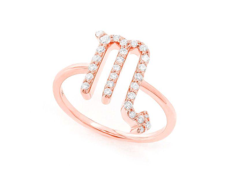 Scorpio Zodiac Ring 14K   0.12ctw