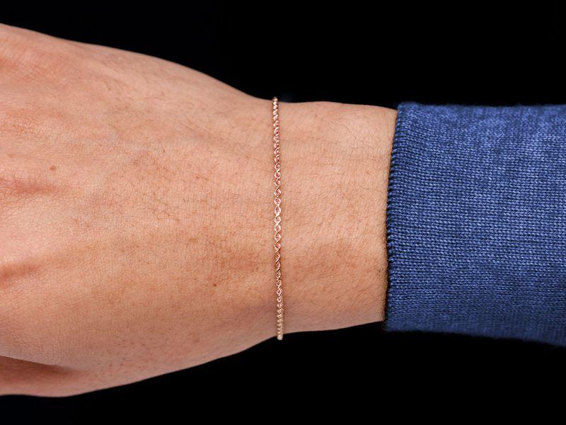1.5mm Rope 14K   Bracelet