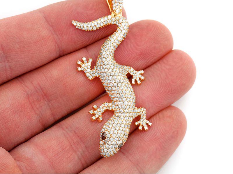 Lizard Pendant 14K   4.20ctw