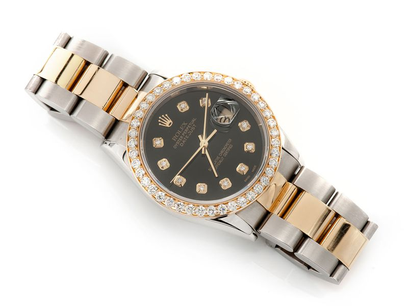 Pre-owned Rolex Datejust 36MM 18KSS  2.20ctw