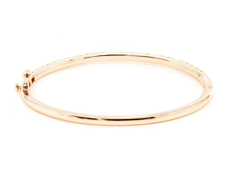 5pt Scallop Bangle Bracelet 14K   1.35ctw