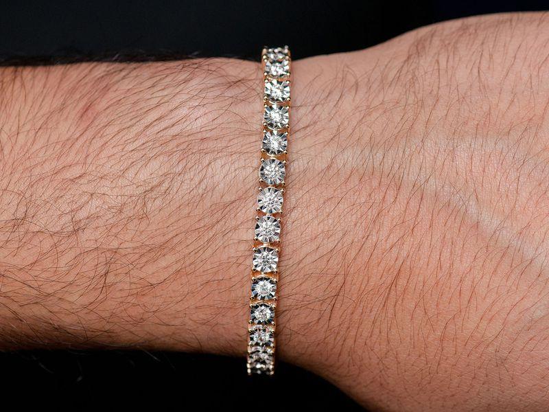 12pt Miracle Bracelet 14K   4.15ctw