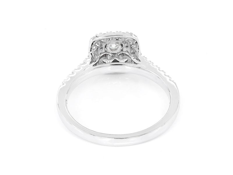 Three Layer Square Engagement Ring 14K   0.57ctw