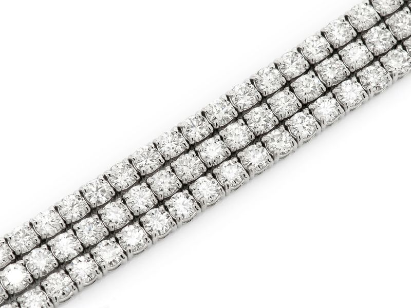 Three Row Bracelet 14K   18.55ctw
