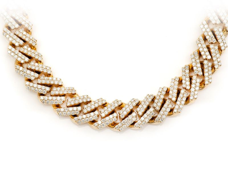12mm Miami Cuban Necklace 14K   21.24ctw