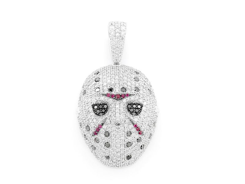 Hockey Mask Pendant 14K   3.80ctw