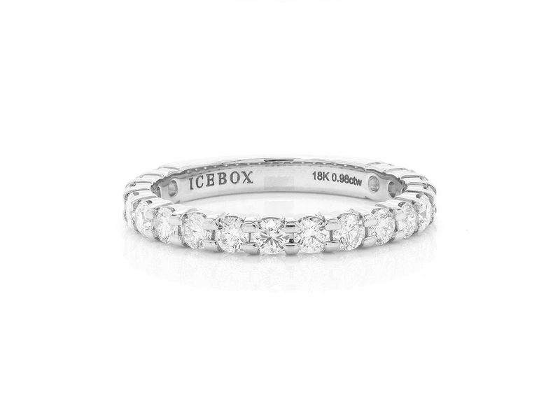 Single Row Ring 18K   0.99ctw