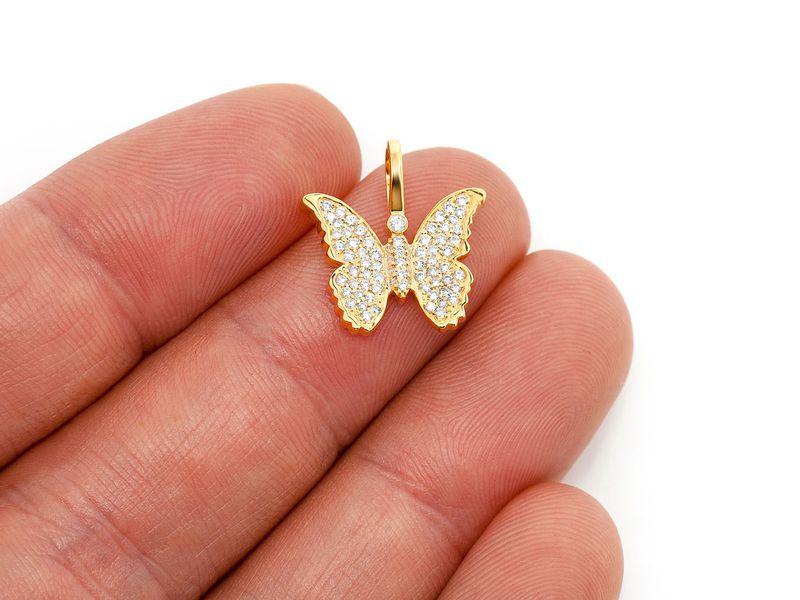 Butterfly Pendant 14K   0.40ctw