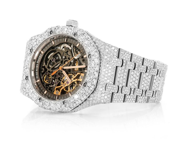 Audemars Piguet Skeleton Steel  Iced Out