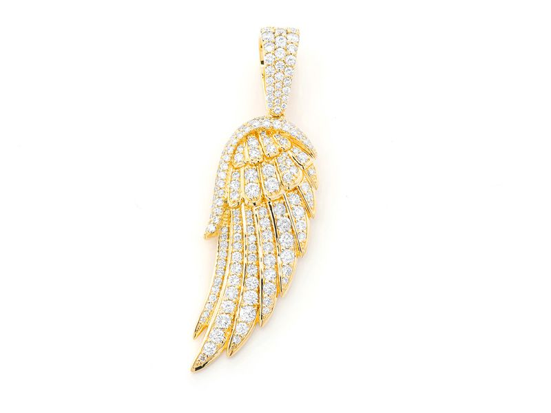 Angel Wing Pendant 14K   2.64ctw
