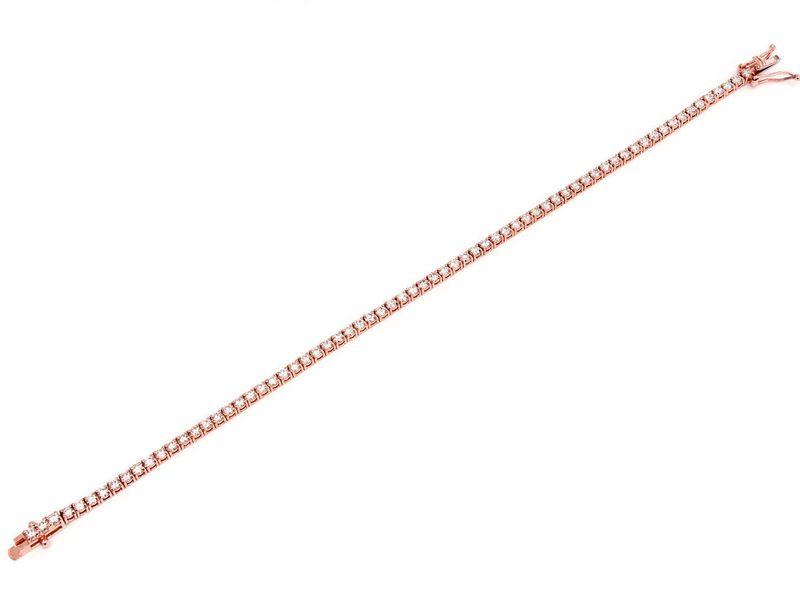 Tennis Bracelet 14K   2.99ctw