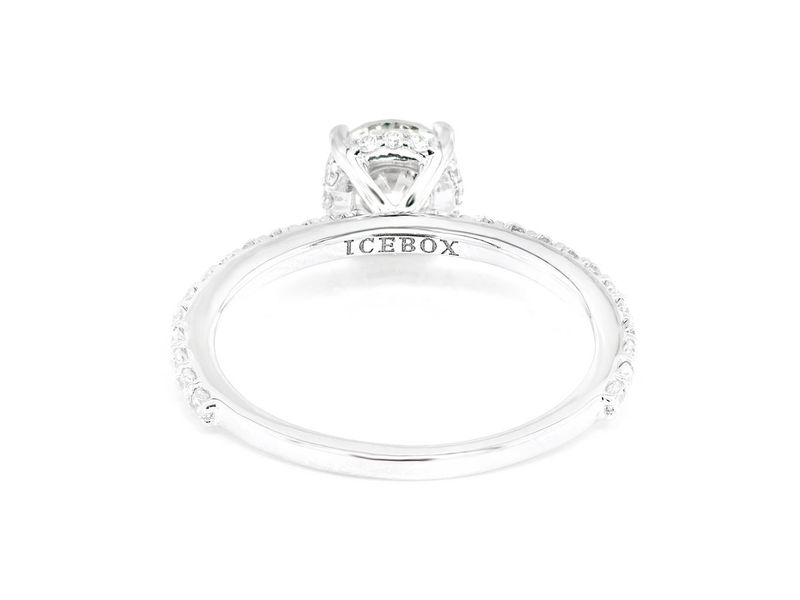 Round Under Halo Engagement Ring 18K   1.33ctw