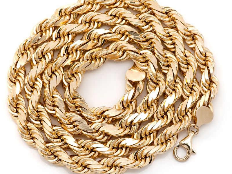 8mm Rope 14K   Chain
