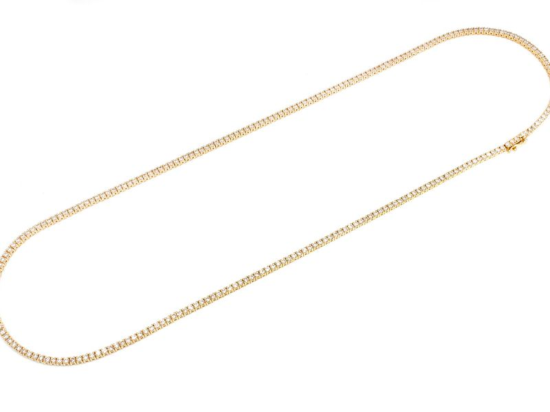 4pt Tennis Necklace 14K   8.75ctw