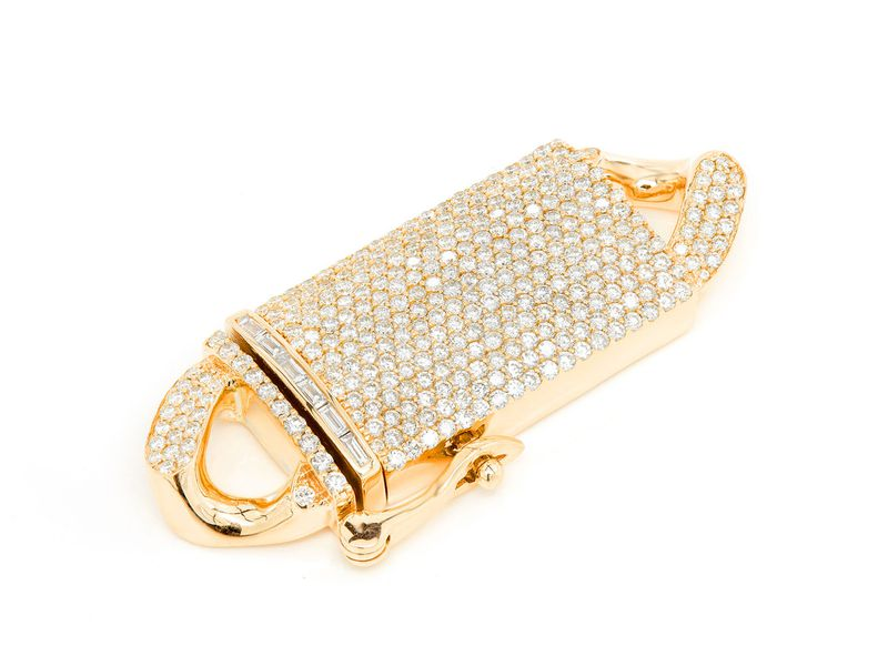 Icebox 20MM Diamond Cuban Clasp 14K   5.00ctw