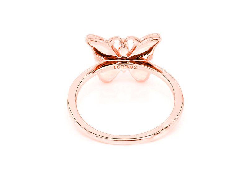 Butterfly Emoji Ring 14K   0.19ctw