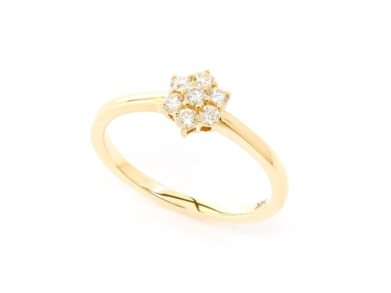 Flower Promise Ring 14K   0.24ctw