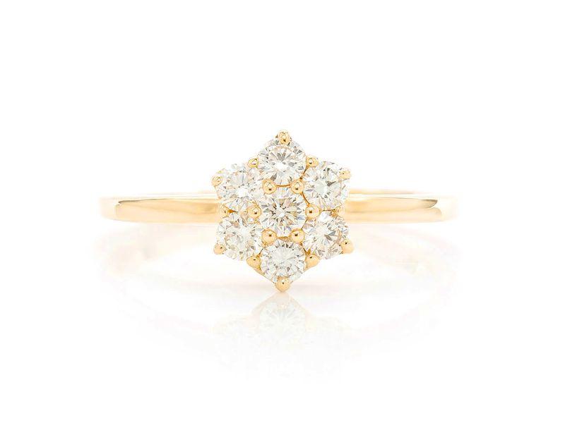 Flower Promise Ring 14K   0.47ctw