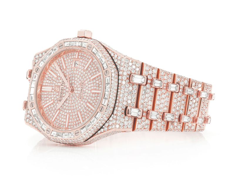 Pre-owned Icebox Audemars Piguet 41mm 18K  ICED OUT