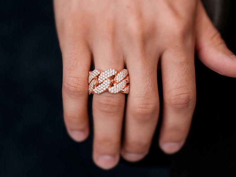 Super Cuban Ring 14K   2.85ctw