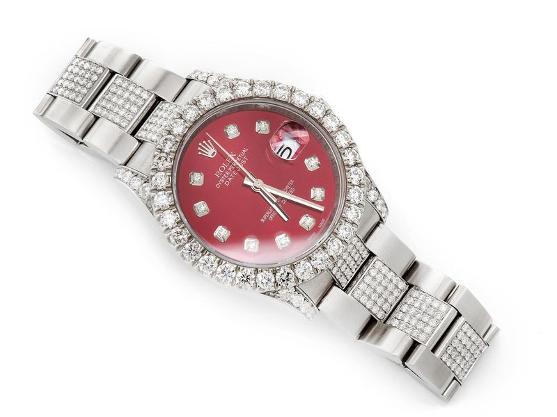 Rolex Datejust 10.58ctw St.Steel