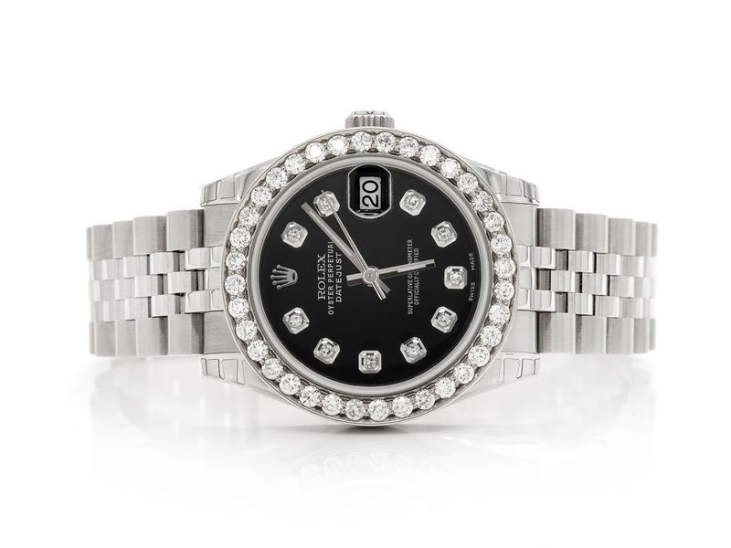 Pre-owned Rolex Datejust 31mm SS  1.69ctw